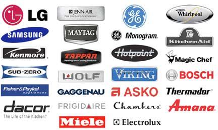 Brands we serve are those.