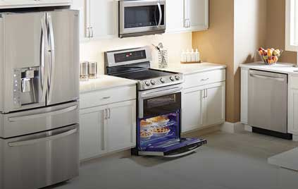We do LG appliance repair.