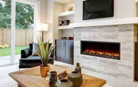Electric fireplace repair is what we do.